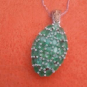 Brand new Emerald necklace